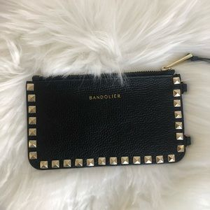 Bandolier pyramid Sarah gold studded leather pouch